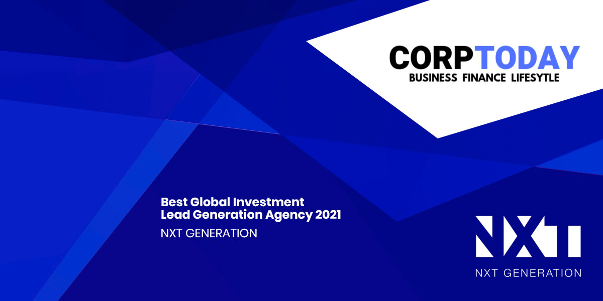 Corp Today Lead Generation Agency Award 2021